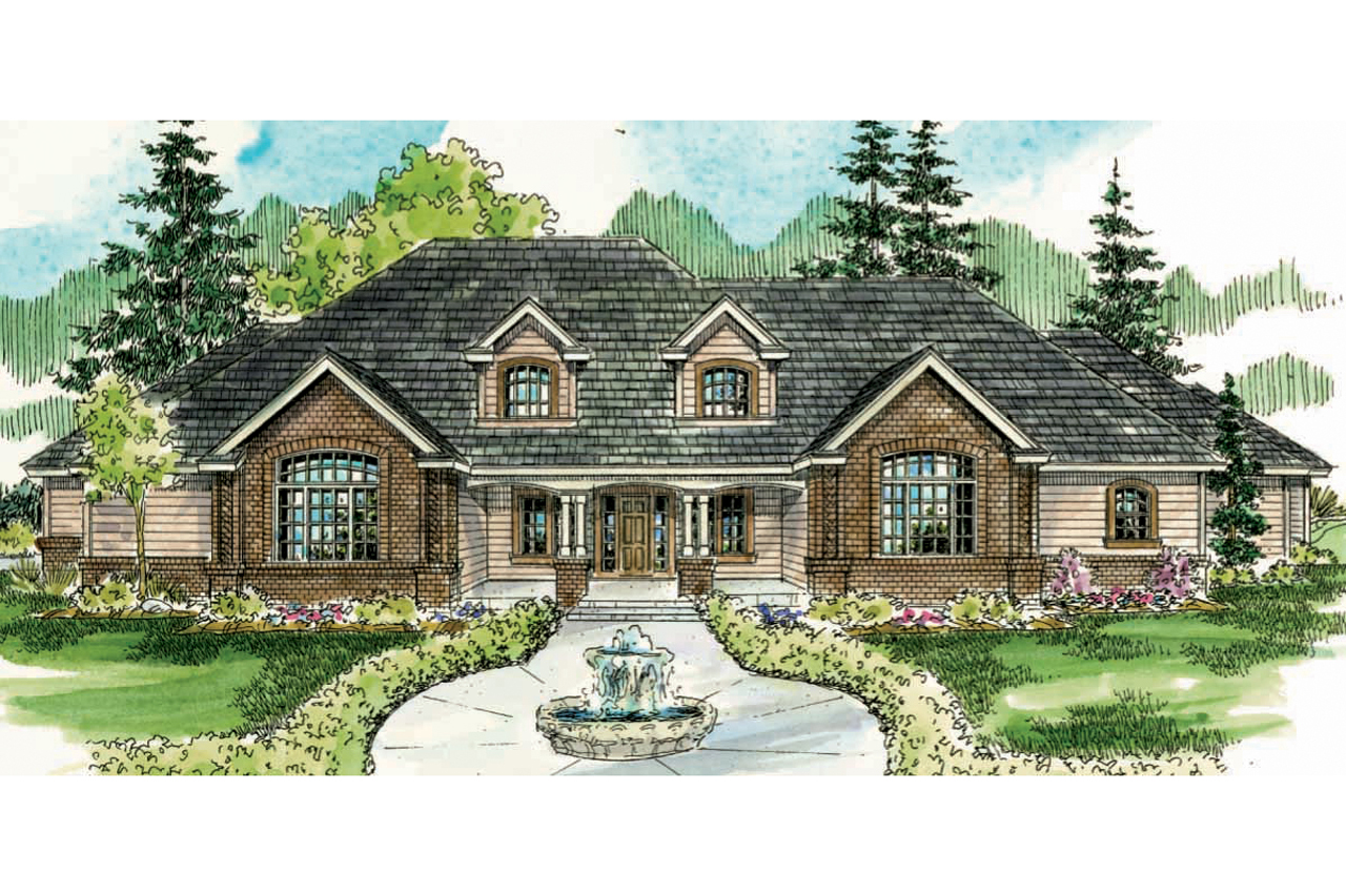 Front Elevation Classic : Classic house plans laurelwood associated designs