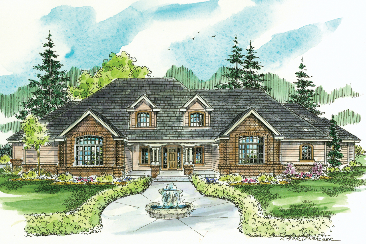 Classic house plans laurelwood 30 722 associated designs for Classic tudor house plans