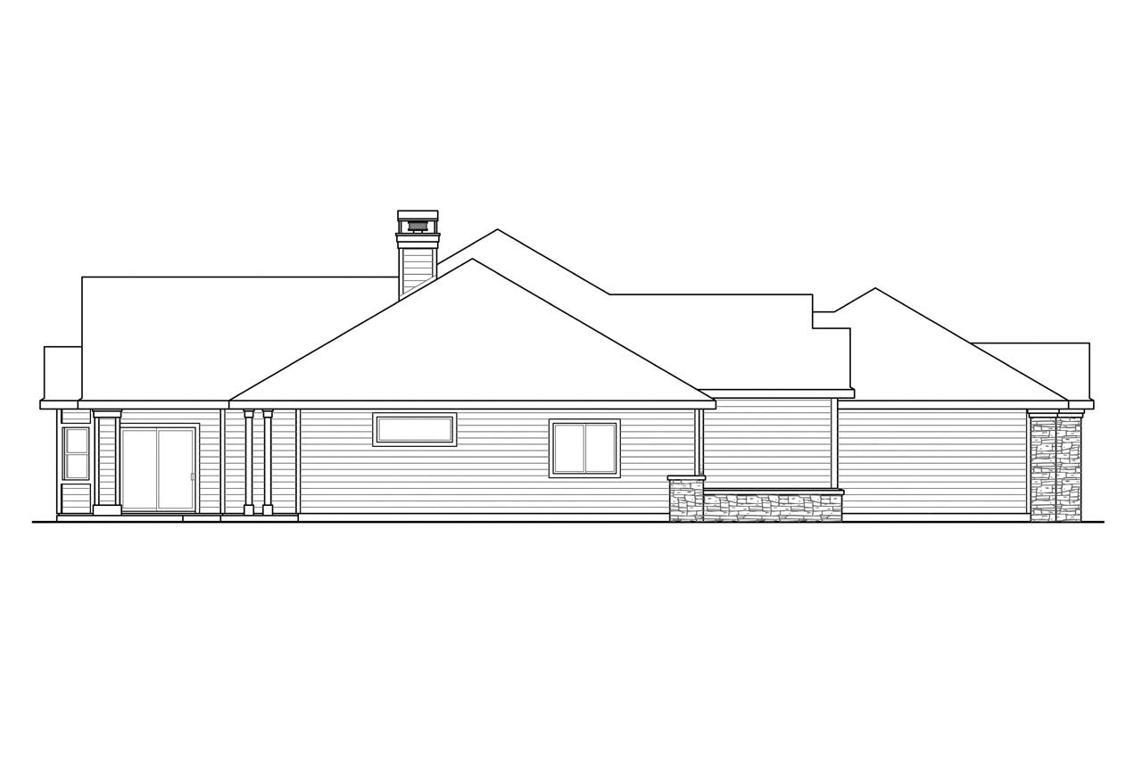 Ranch house plans meadow lake 30 767 associated designs for Classic house elevation