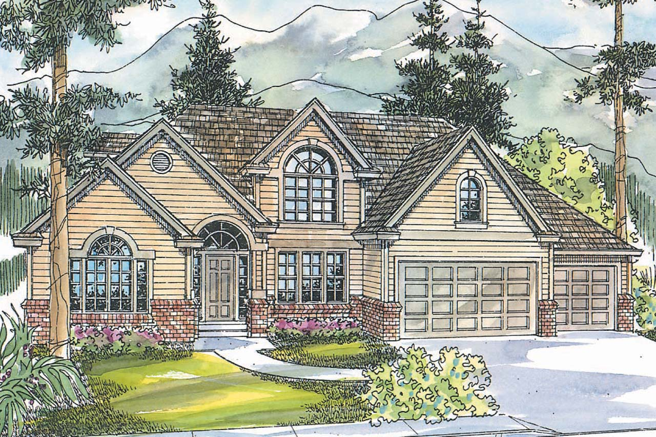 Classic house plans remmington 30 460 associated designs for Classic house elevation