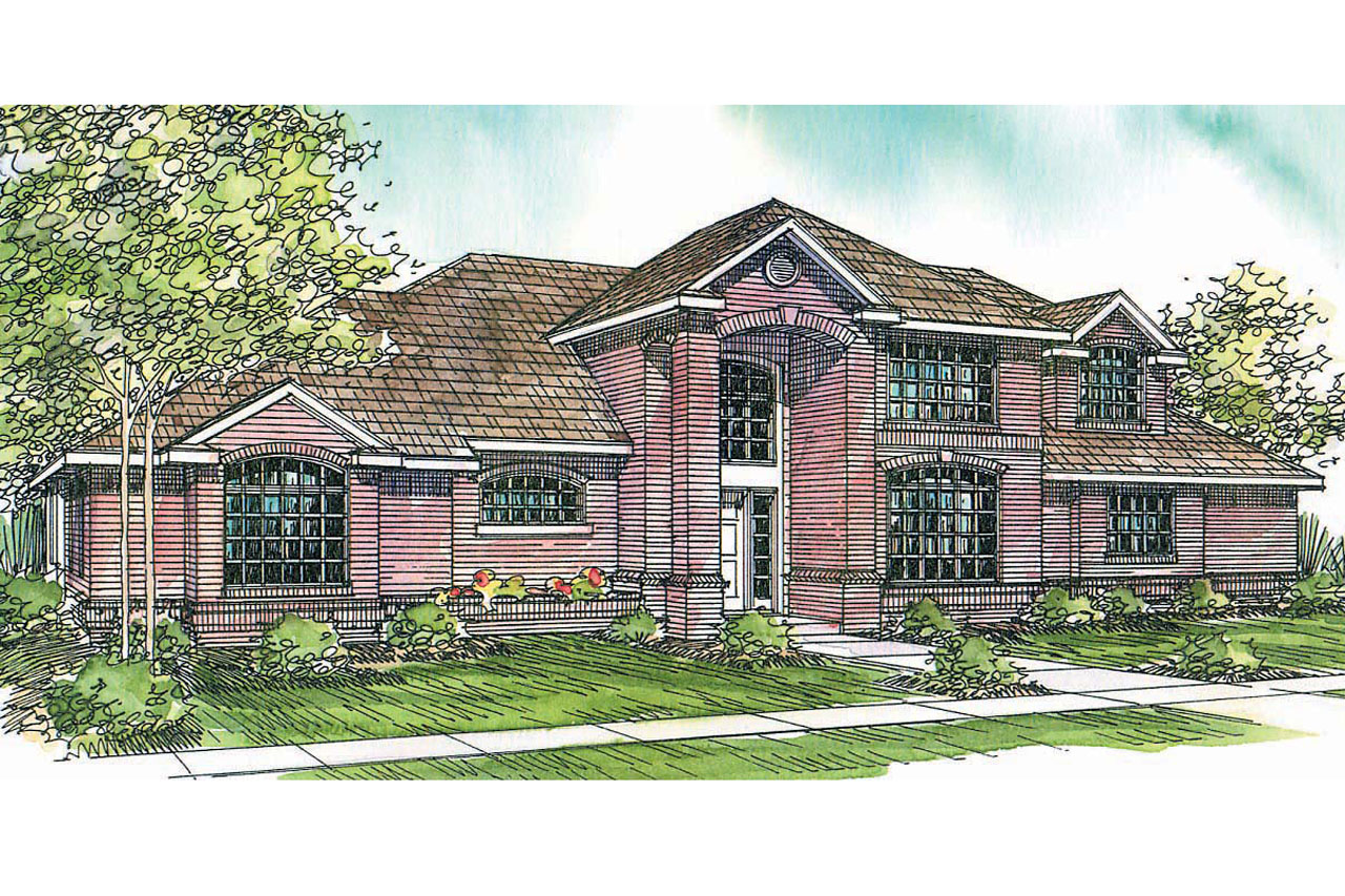 Classic house plans richfield 10 352 associated designs for Classic house elevation