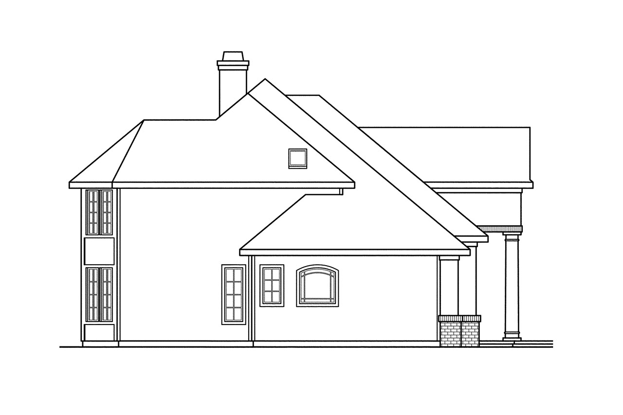 European house plans vidalia 30 134 associated designs for Classic house elevation