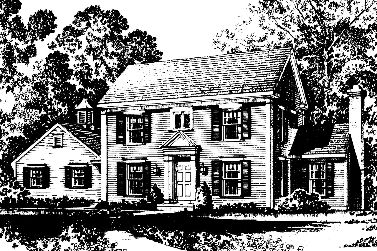 Small colonial saltbox house plans for Small saltbox house plans