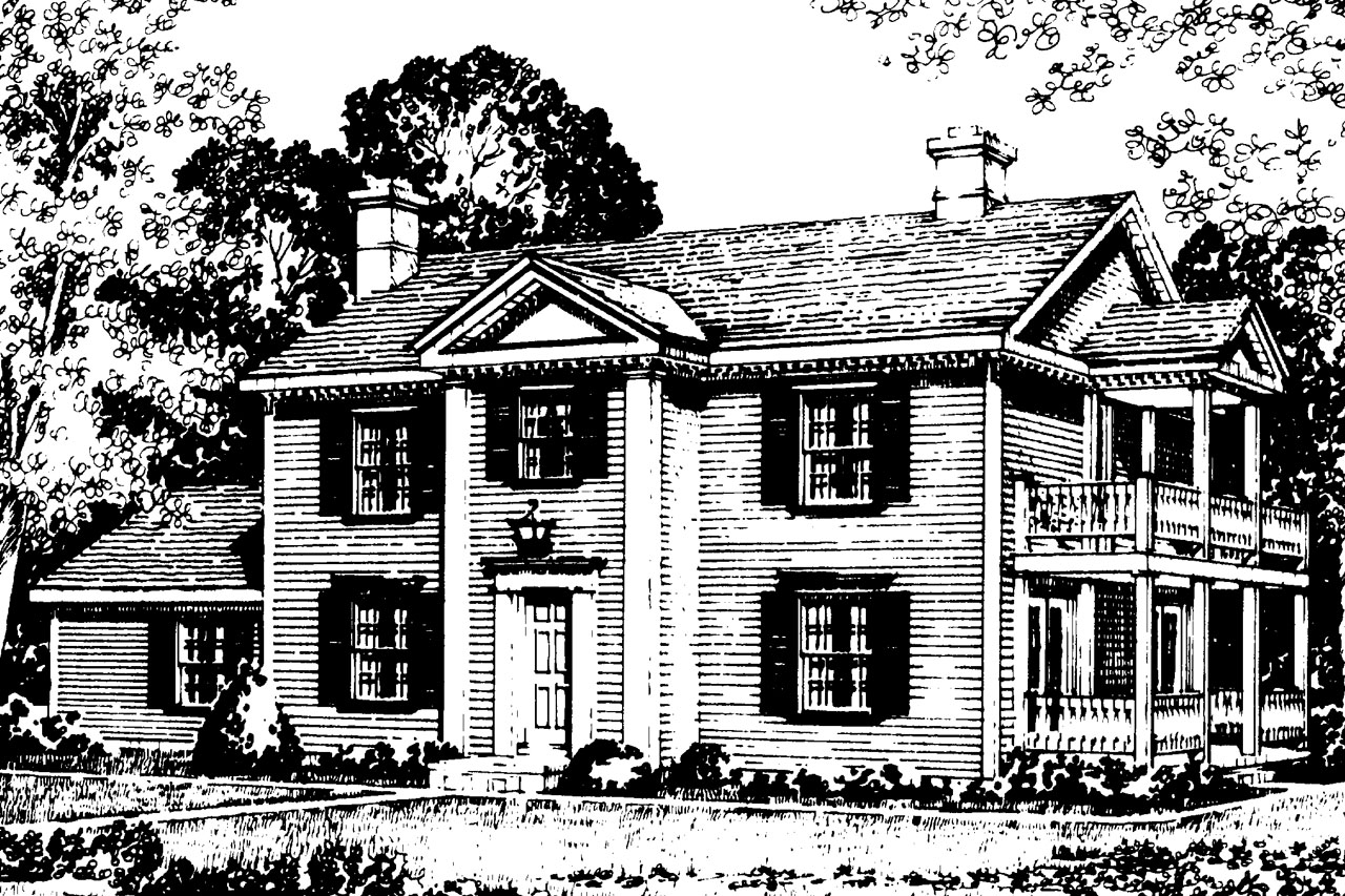 Colonial Front Elevation : Colonial house plans rossford associated designs