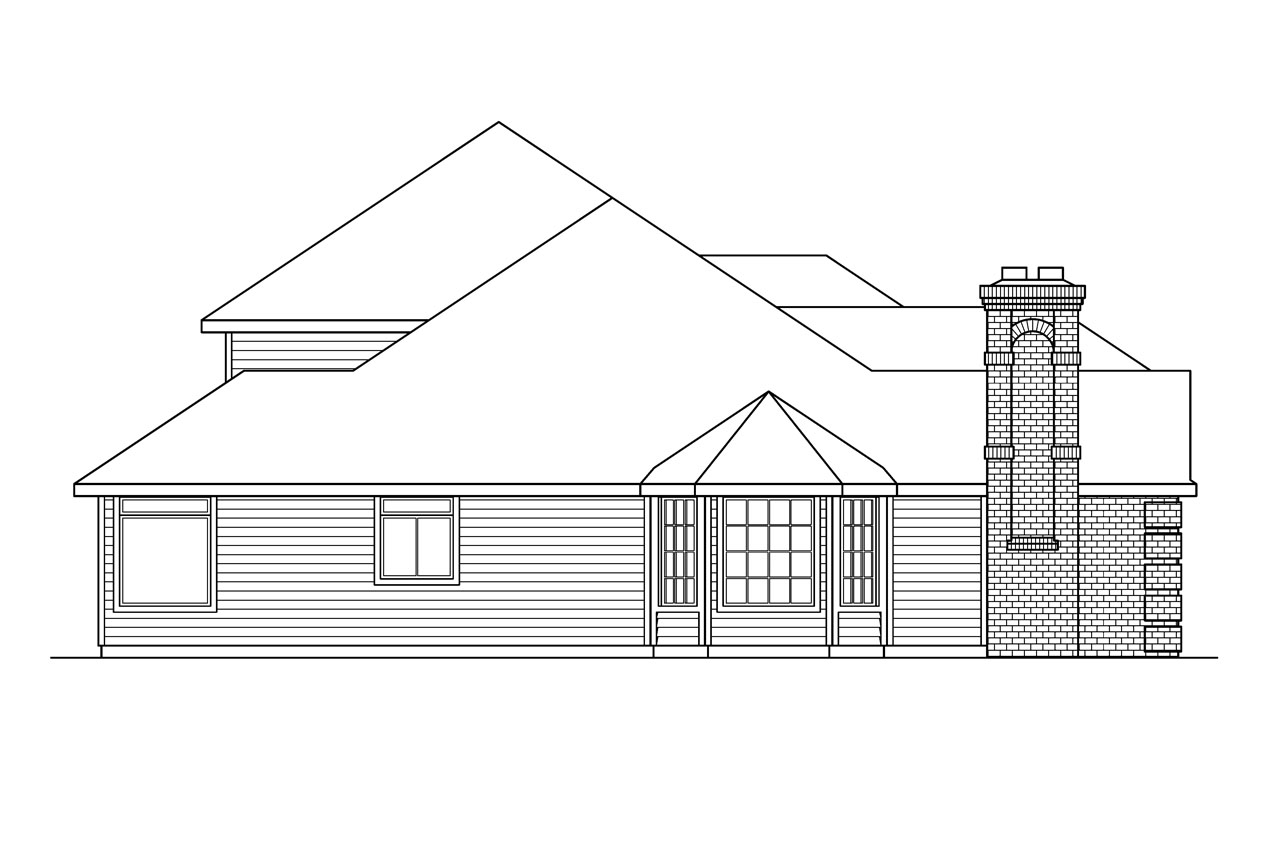 Classic house plans stirling 10 242 associated designs for Classic house elevation