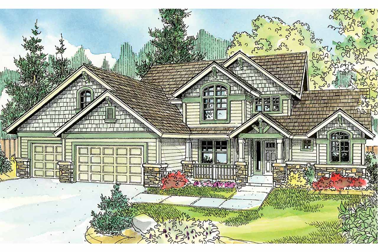 Cottage house plans briarwood 30 690 associated designs for Country craftsman home plans