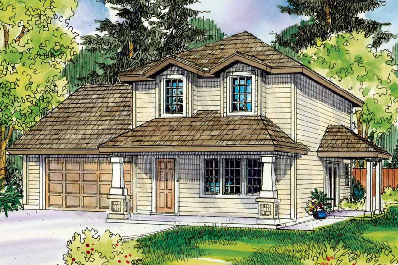 Country Cottage Elevation : Cottage house plans molalla associated designs