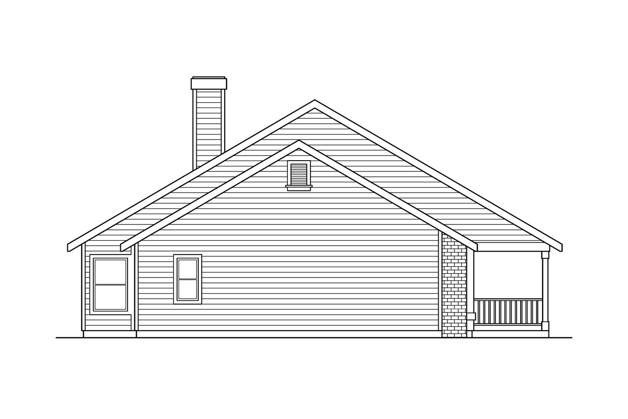 ranch house plans alpine 30 043 associated designs country house plan alpine 30 043 left elevation