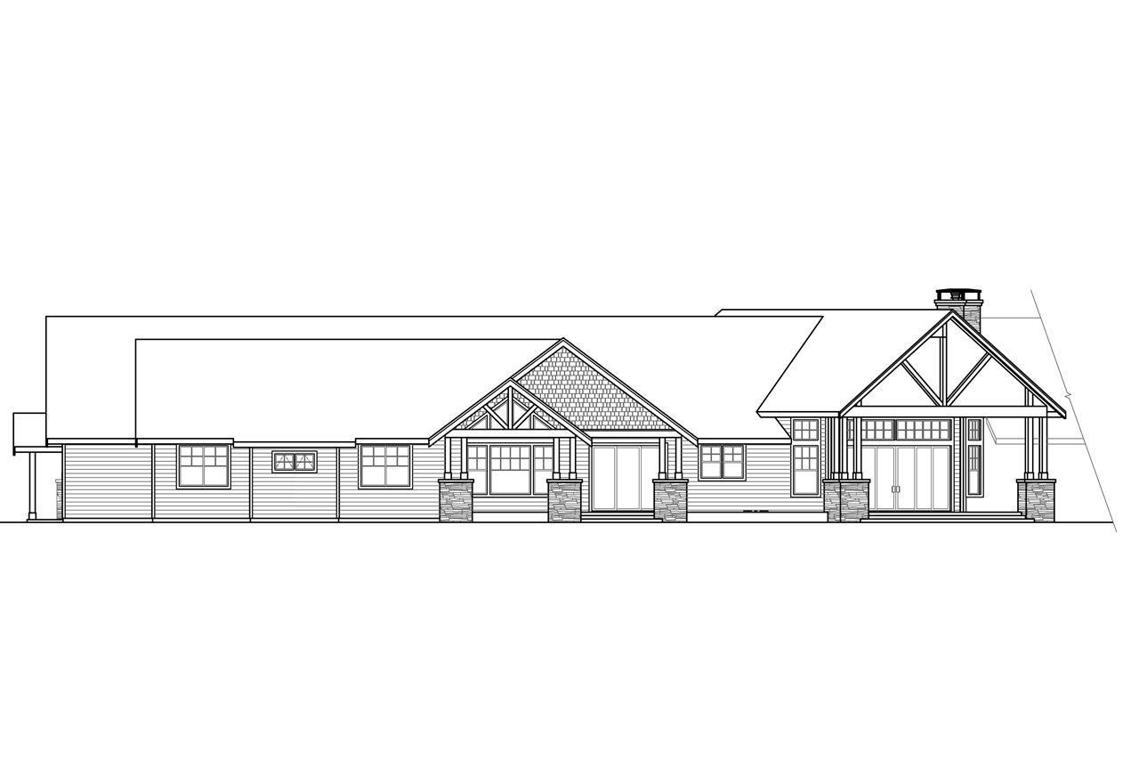 Lodge style house plans petaluma 31 011 associated designs for What is rear elevation