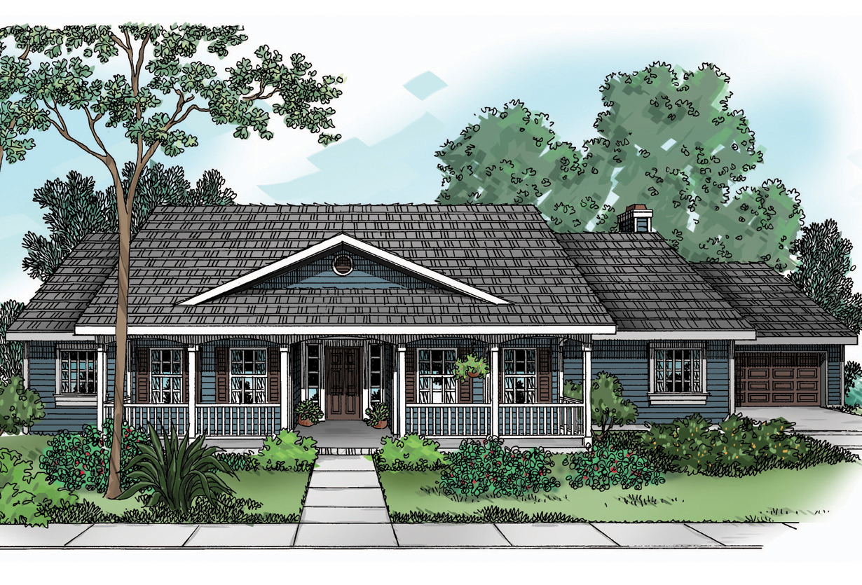 Single story front elevation joy studio design gallery for Country houseplans