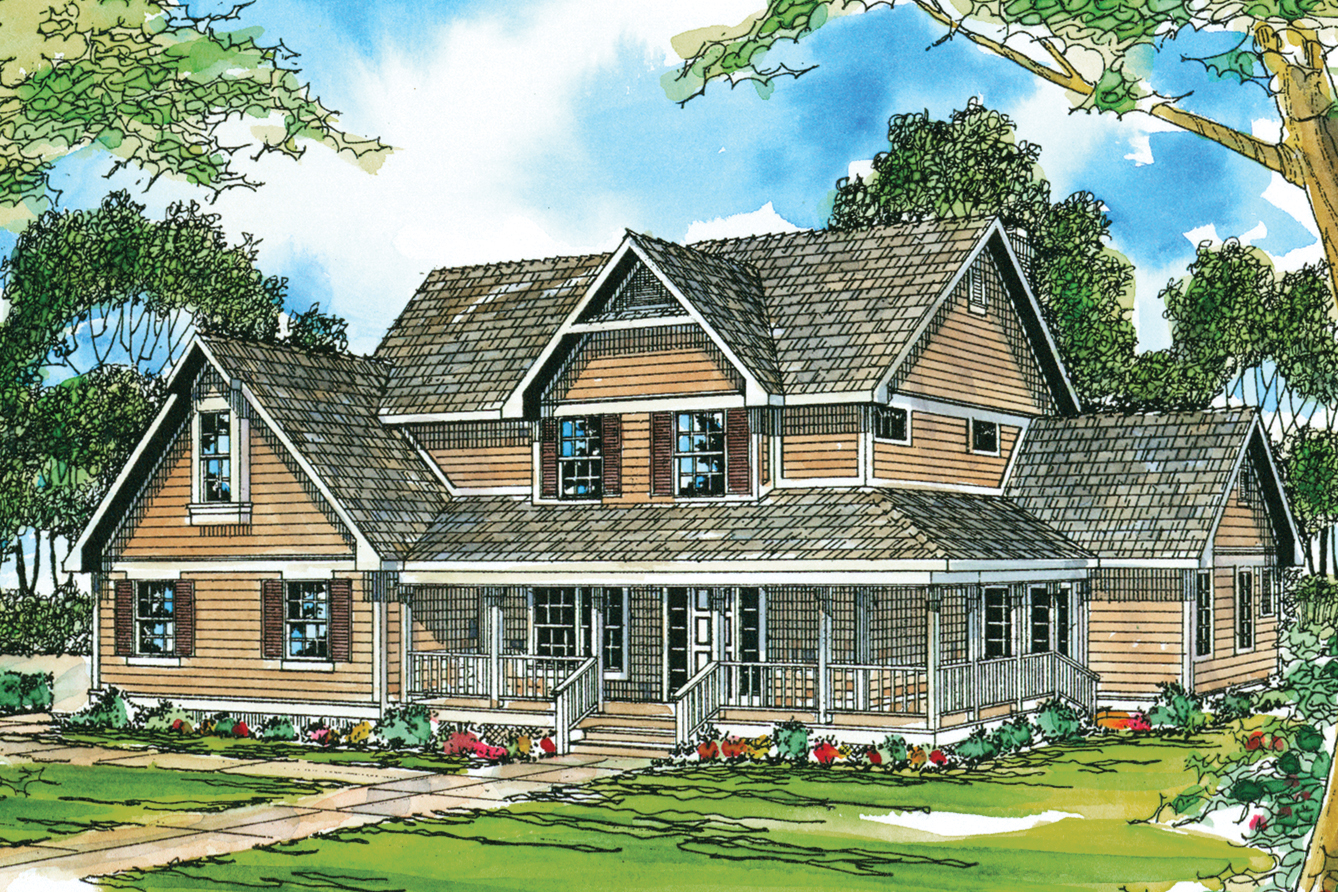 Country House Plans - Richland 10-256 - Associated Designs