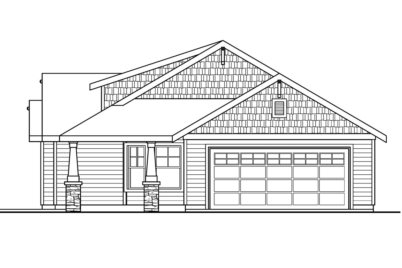 Elevation Plan And Profile : Bungalow house plans strathmore associated designs