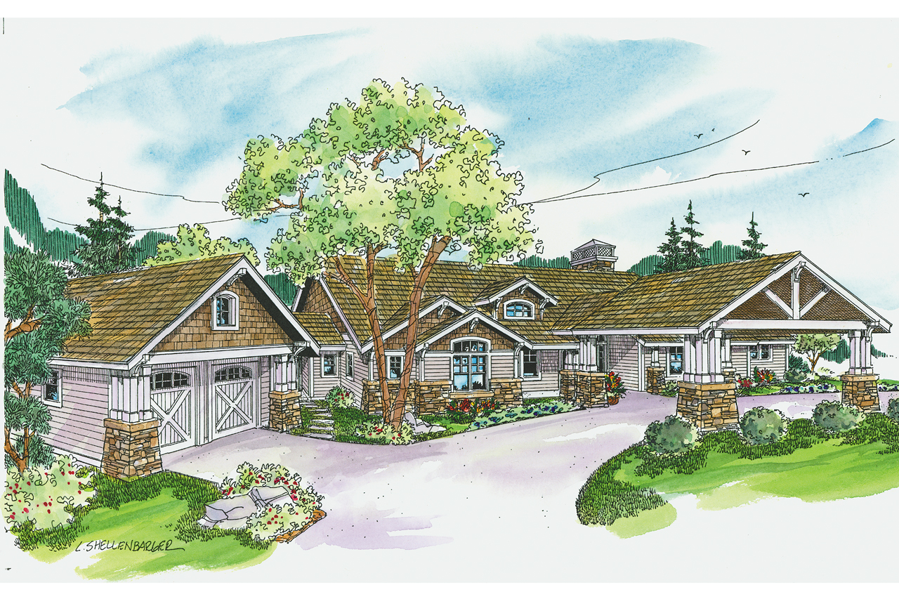 Craftsman House Plans With Porte Cochere