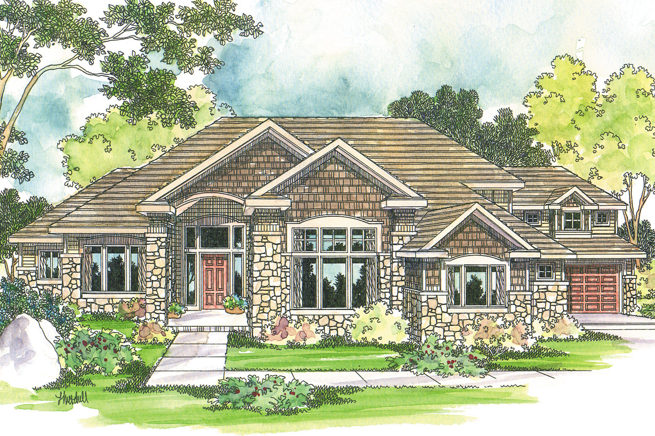 Craftsman house plans bethany 30 272 associated designs for Craftsman home elevations