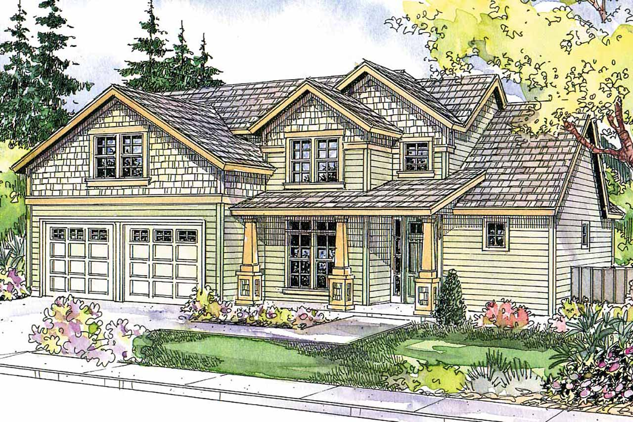 Craftsman house plans brightwood 30 527 associated designs for Craftman house plans