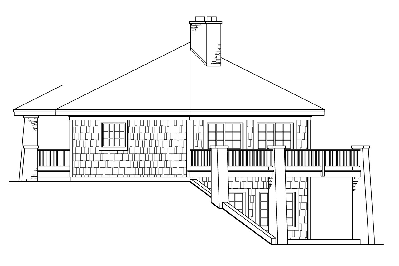 Prairie style house plans grandview 10 249 associated for Prarie house plans