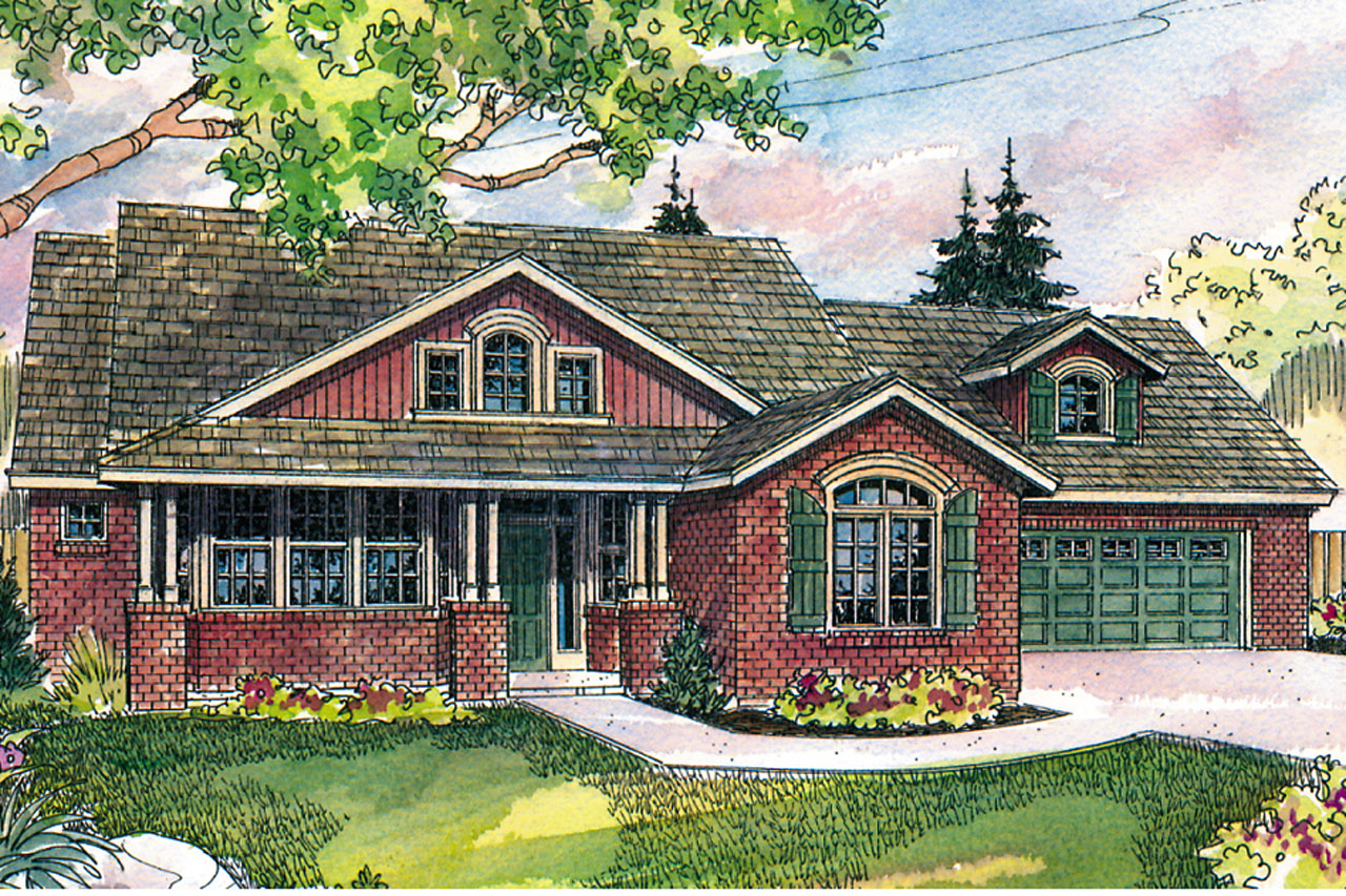 Front Elevation Craftsman : Craftsman house plans heartsong associated designs
