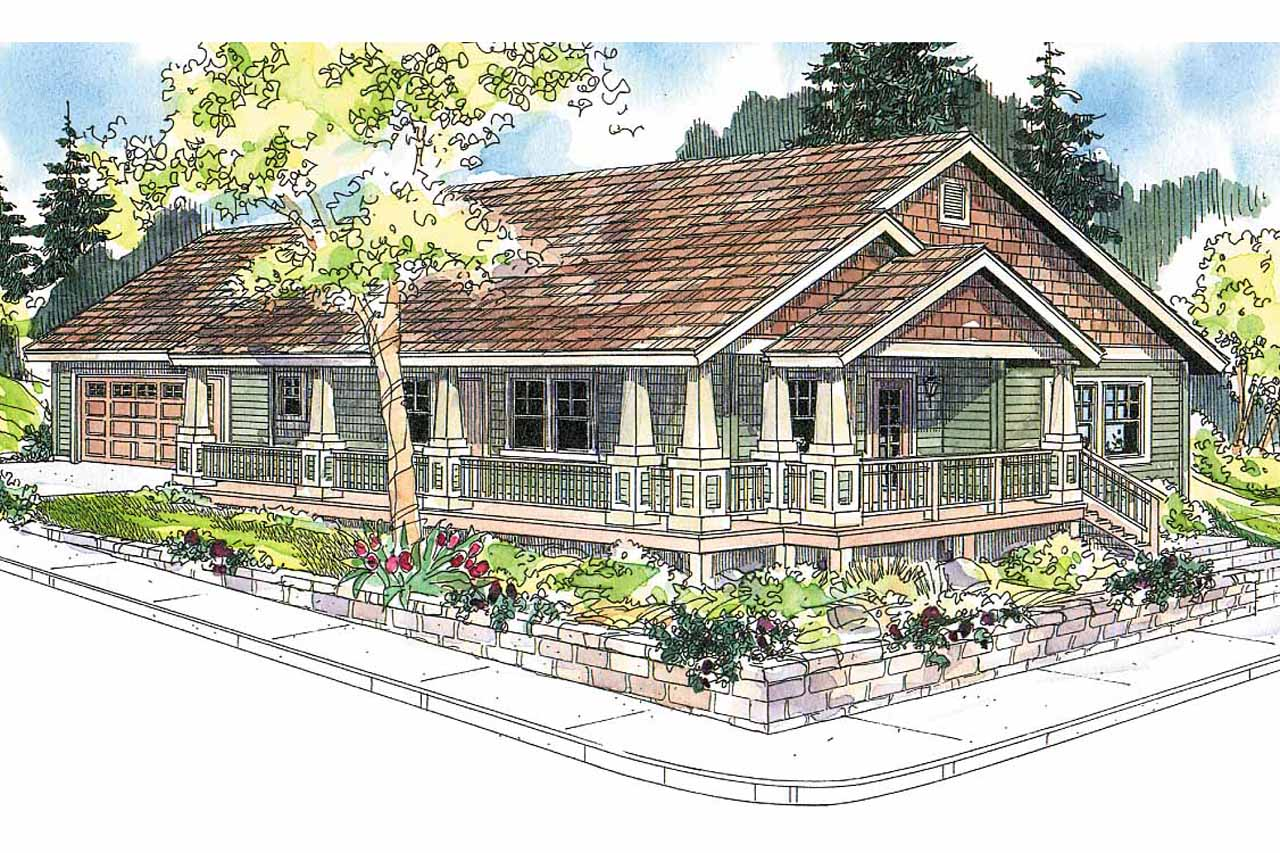craftsman house plan karsten 30 590 front elevation