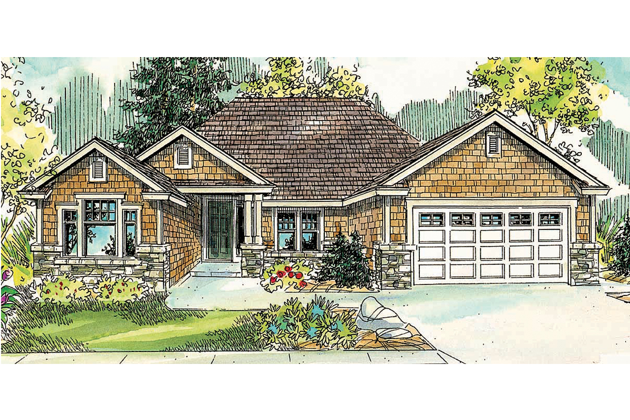 Craftsman house plans ridgefield 30 696 associated designs for Craftsman home elevations