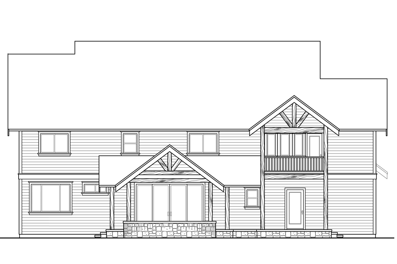 Lodge style house plans riverbank 30 999 associated for Craftsman home elevations