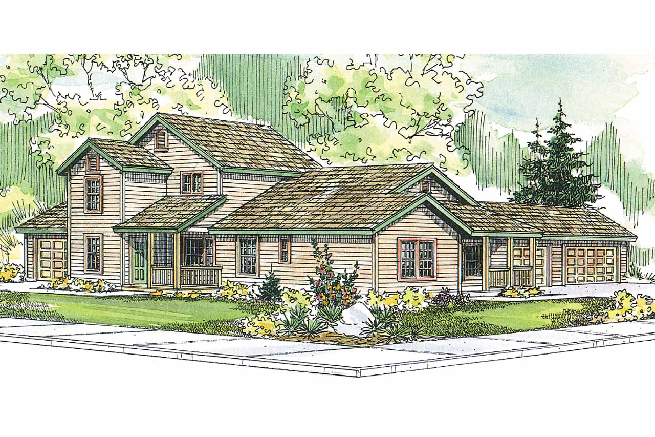 Country house plans corydon 60 008 associated designs for Corner lot home plans