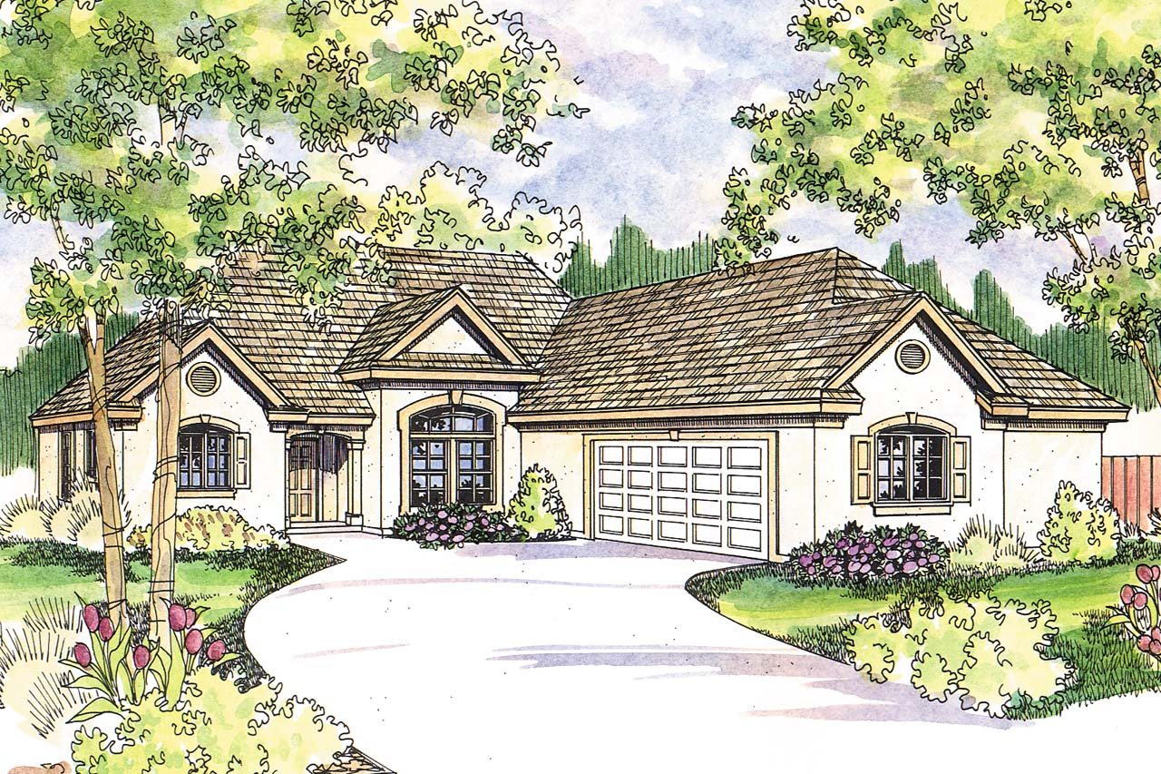 Front Elevation European : European house plans whitmore associated designs