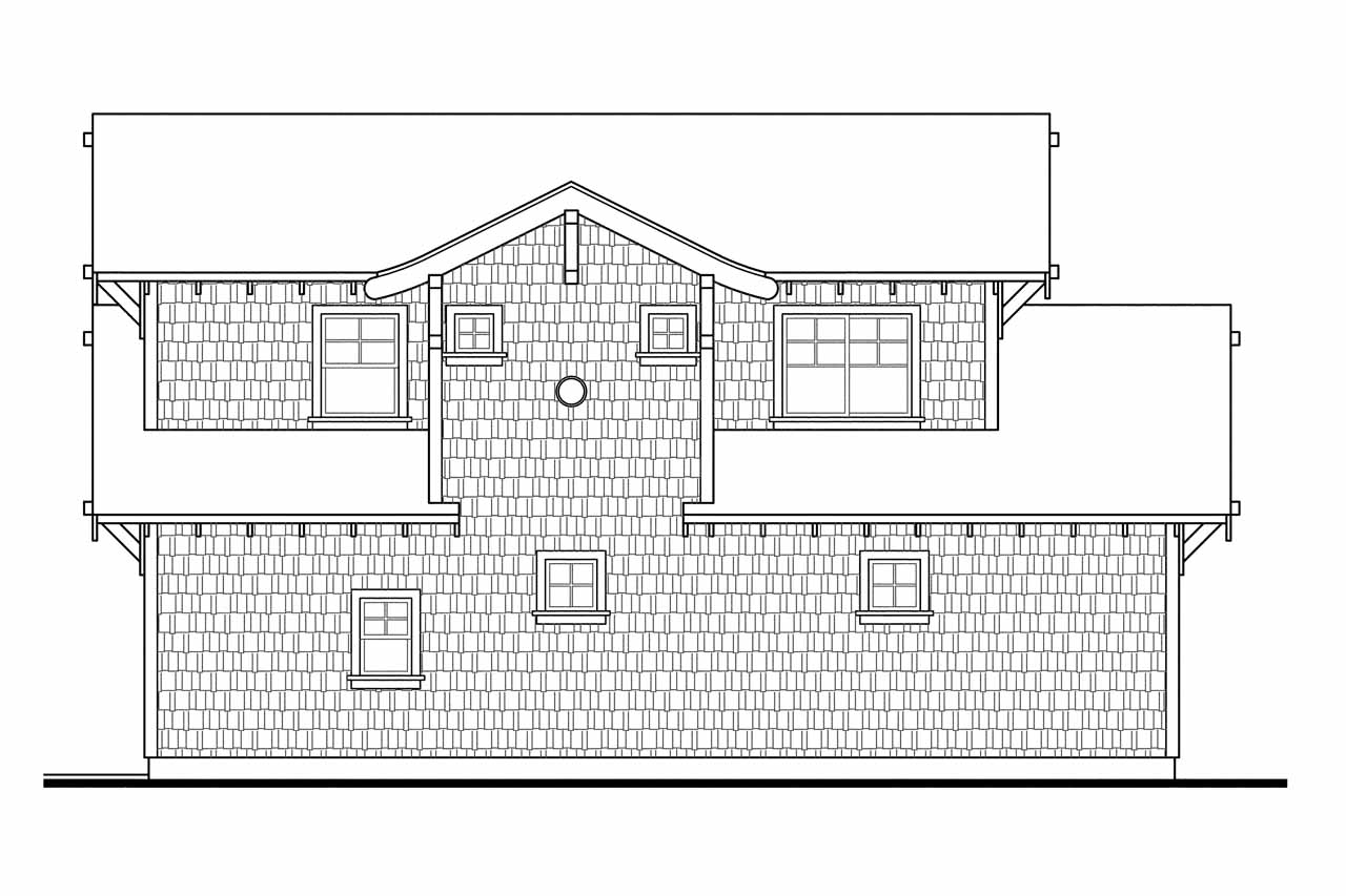 Bungalow house plans garage w apartment 20 052 for Apartment plans and elevations