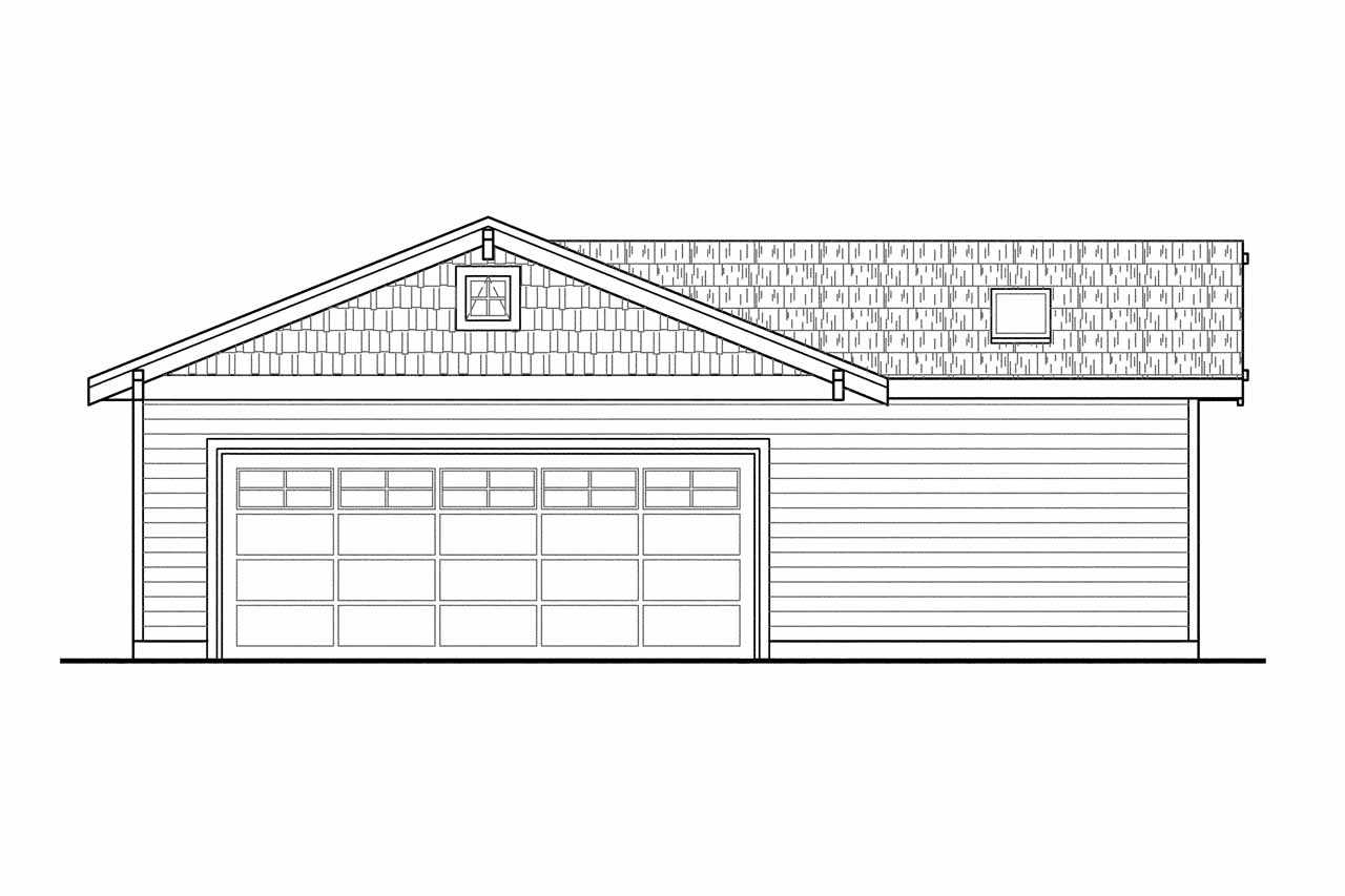 Front Elevation With Garage : Craftsman house plans garage w shop associated