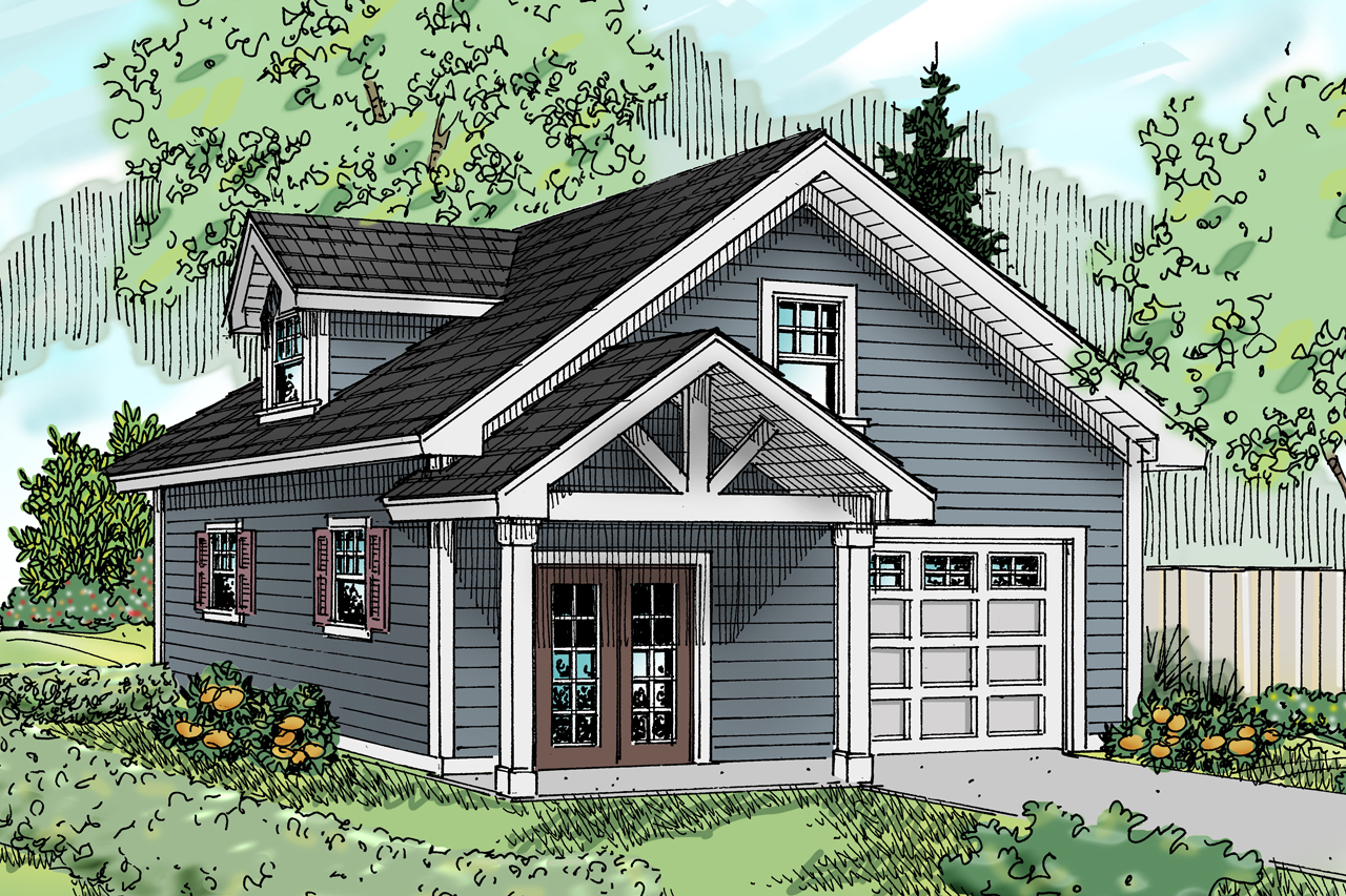Floor Front Elevation Garage : Craftsman house plans garage w bonus associated