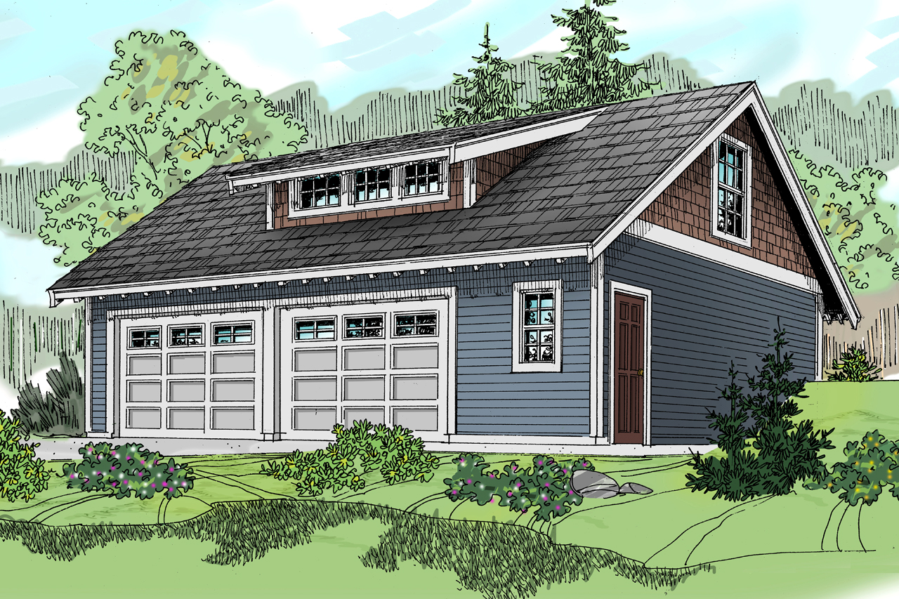 Floor Front Elevation Garage : Craftsman house plans garage w living