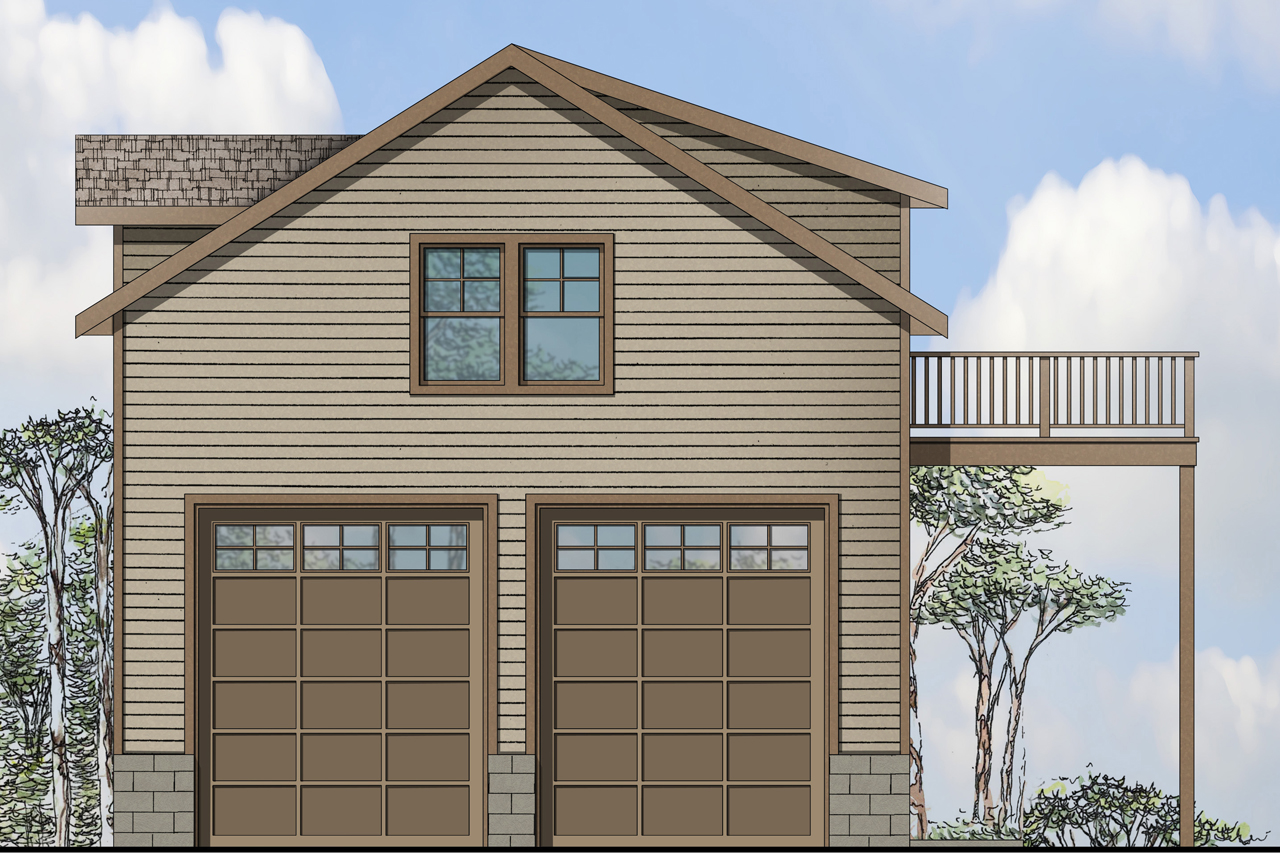 Floor Front Elevation Garage : Traditional house plans garage w living