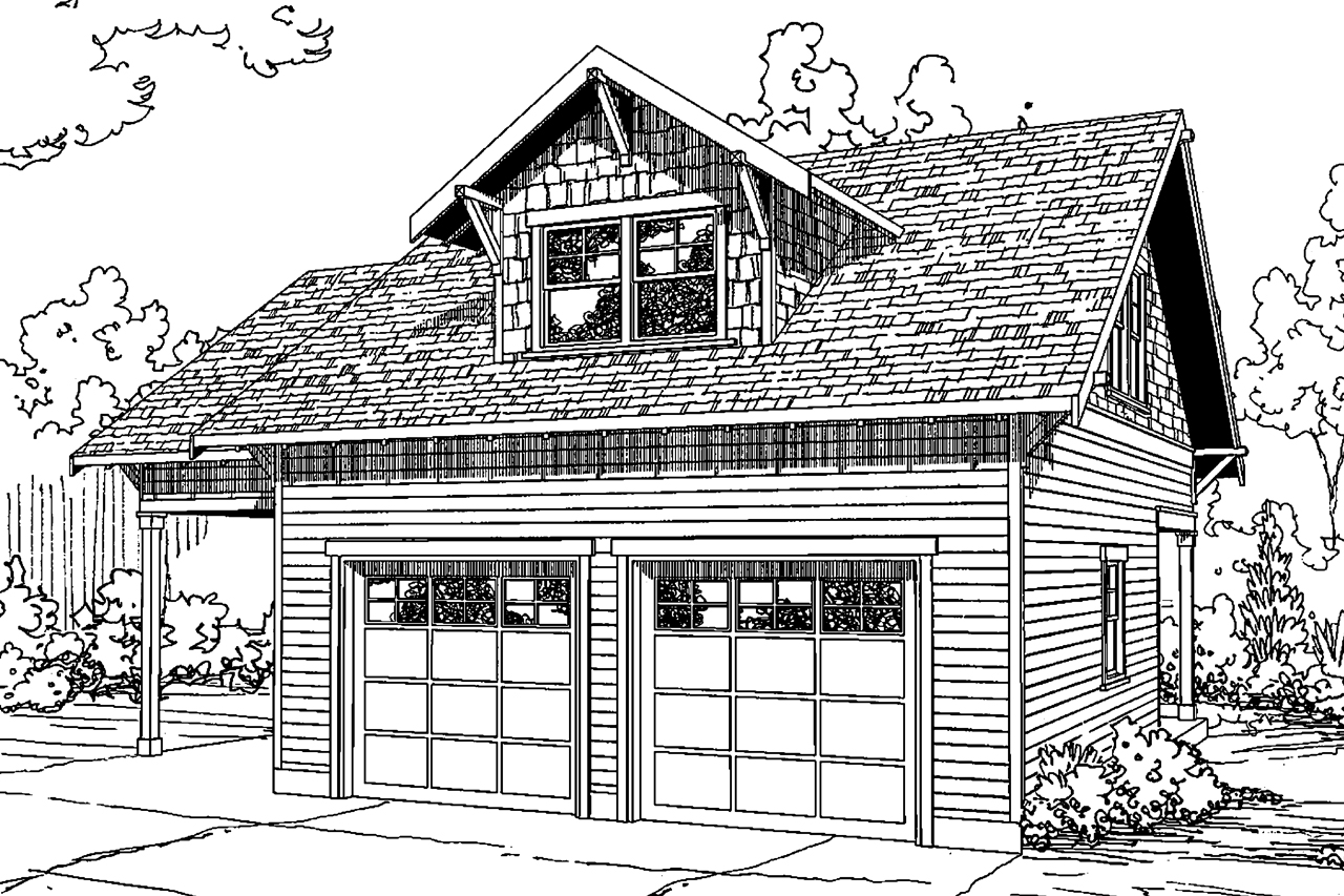 Cottage house plans garage w rec room 20 111 for Garage cottage house plans