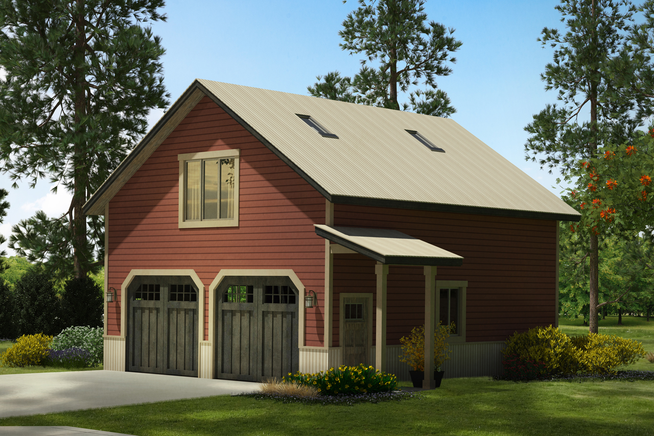 Country house plans garage w rec room 20 147 for Two story car garage