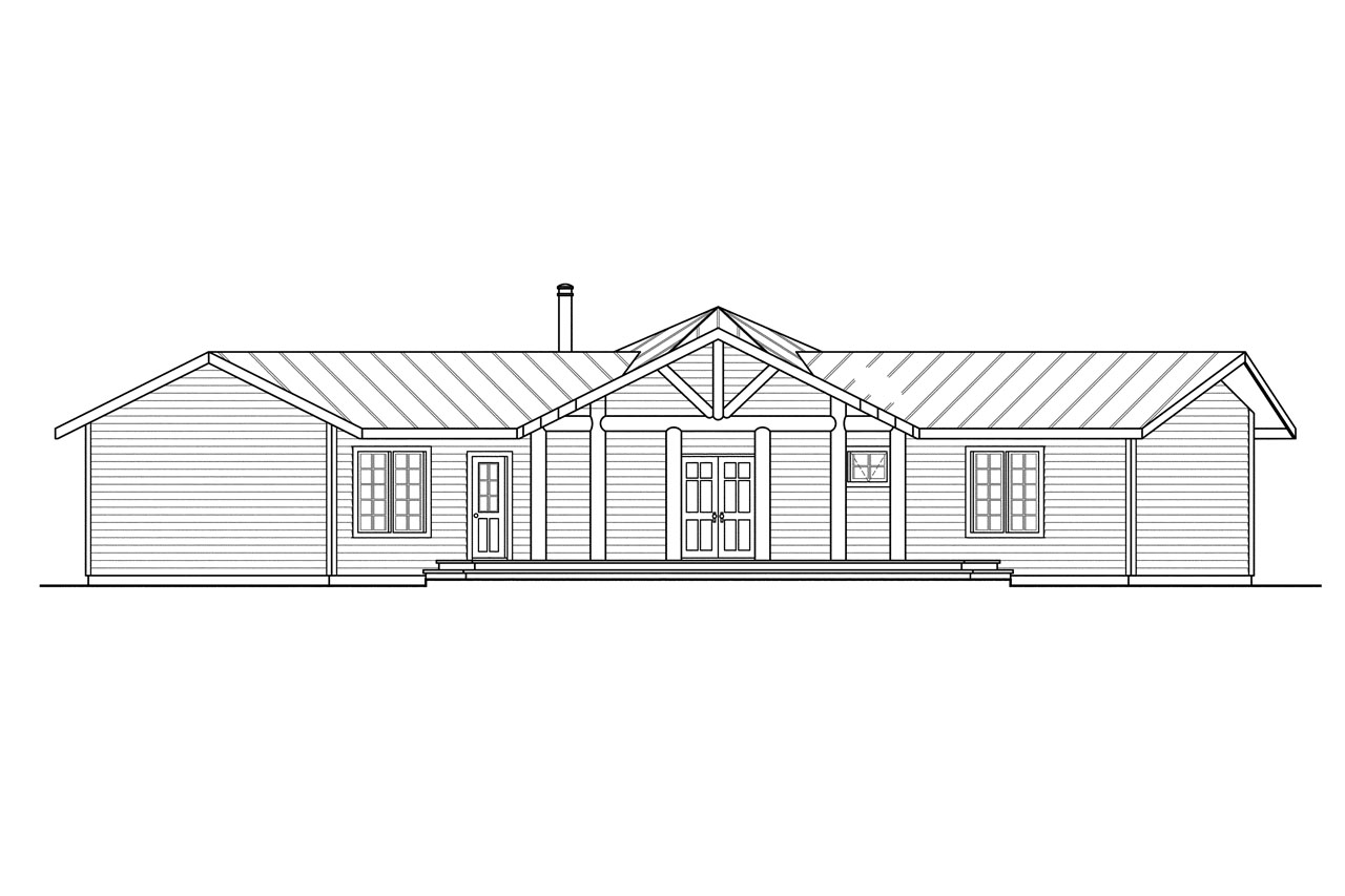Lodge style house plans bismarck rendering