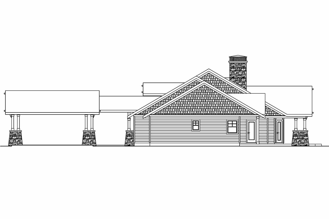 Craftsman house plans arborgate 30 654 associated designs for Farmhouse plans with detached garage