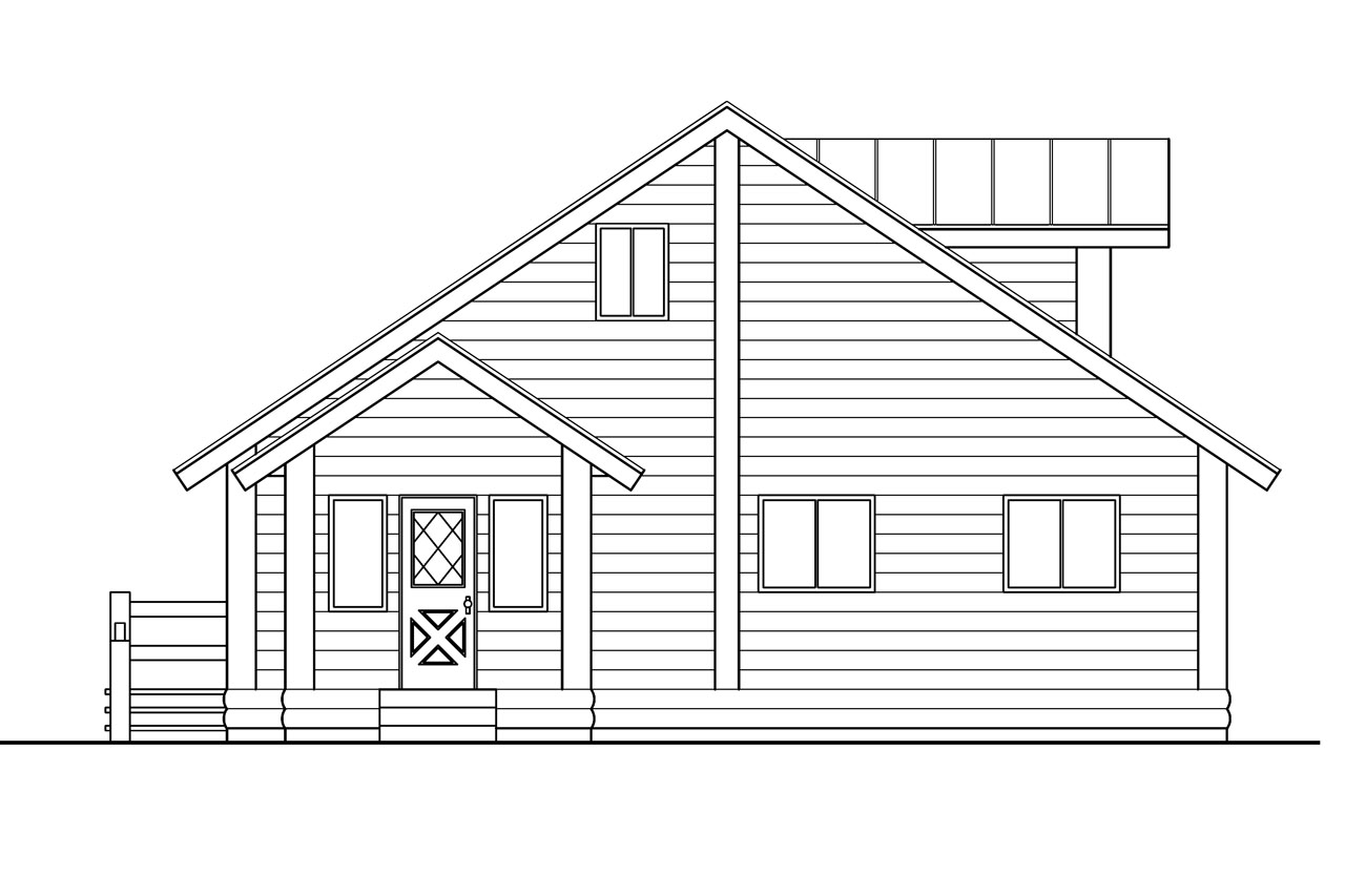 30 023 A Frame House Plans Cabin Vacation Associated Designs. Full resolution‎  picture, nominally Width 1280 Height 853 pixels, picture with #414141.