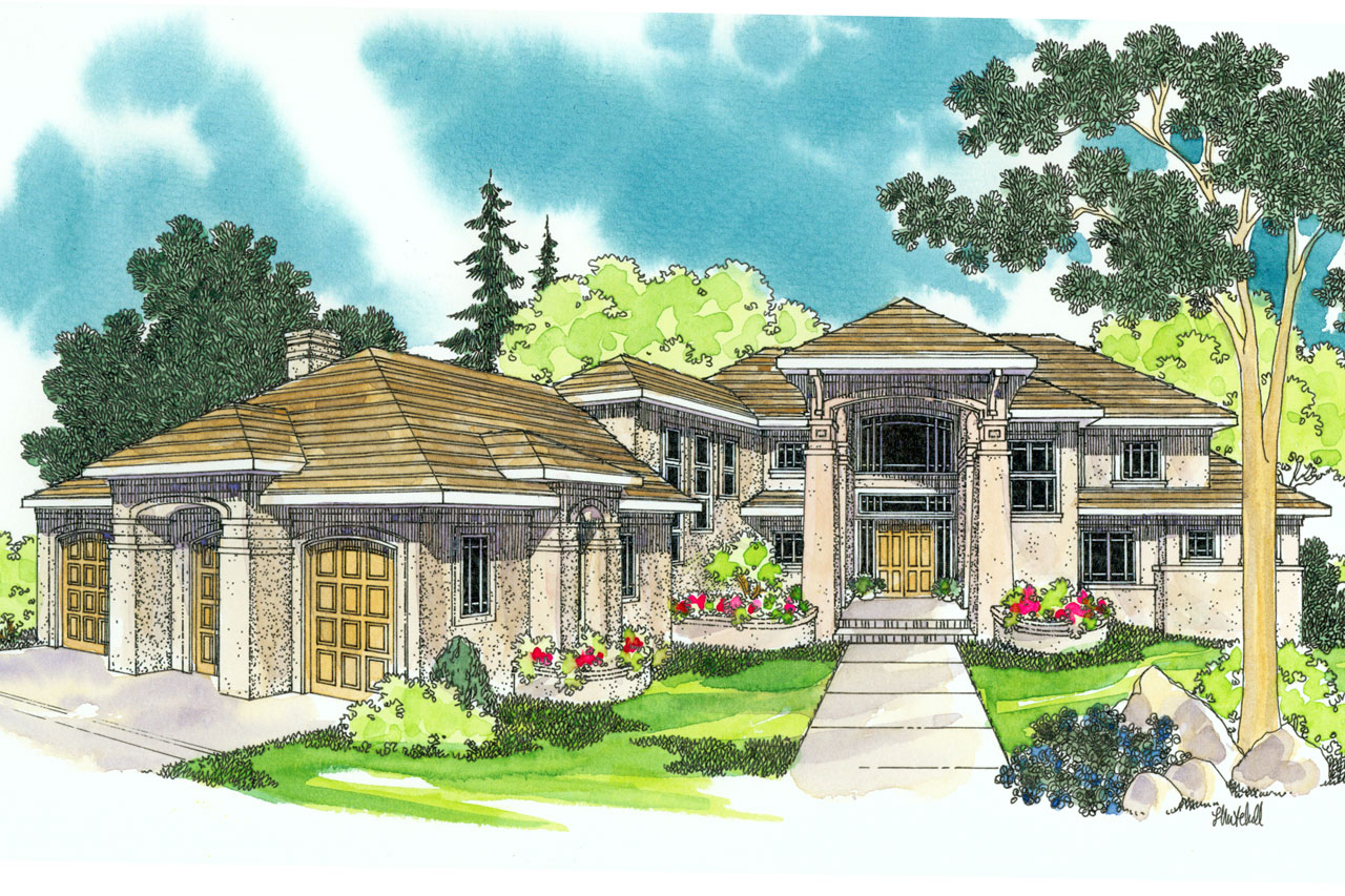 Mediterranean house plans belle vista 30 274 for Mediterranean house floor plans