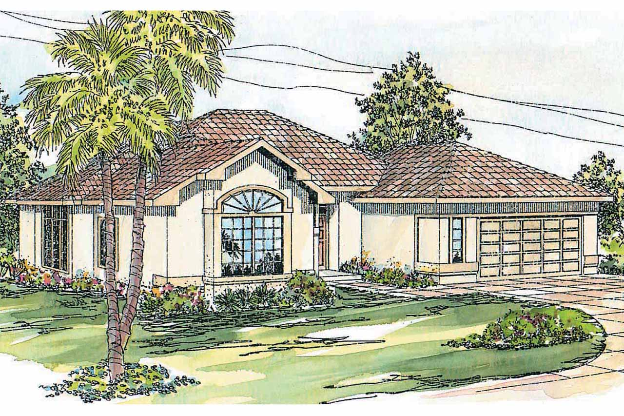 Mediterranean house plans calabro 11 083 associated for Mediterranean elevation