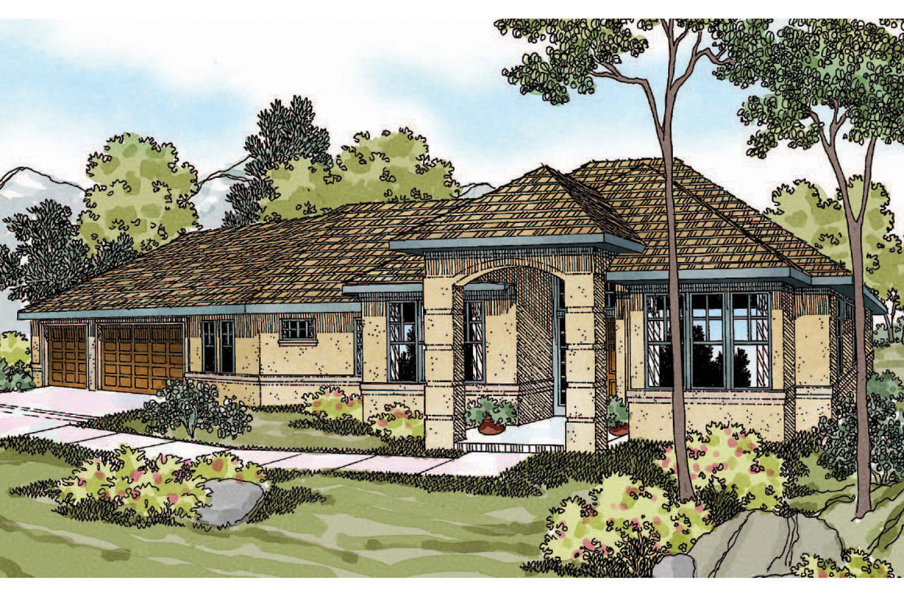 Mediterranean house plans chatsworth 30 227 associated for Mediterranean style house floor plans