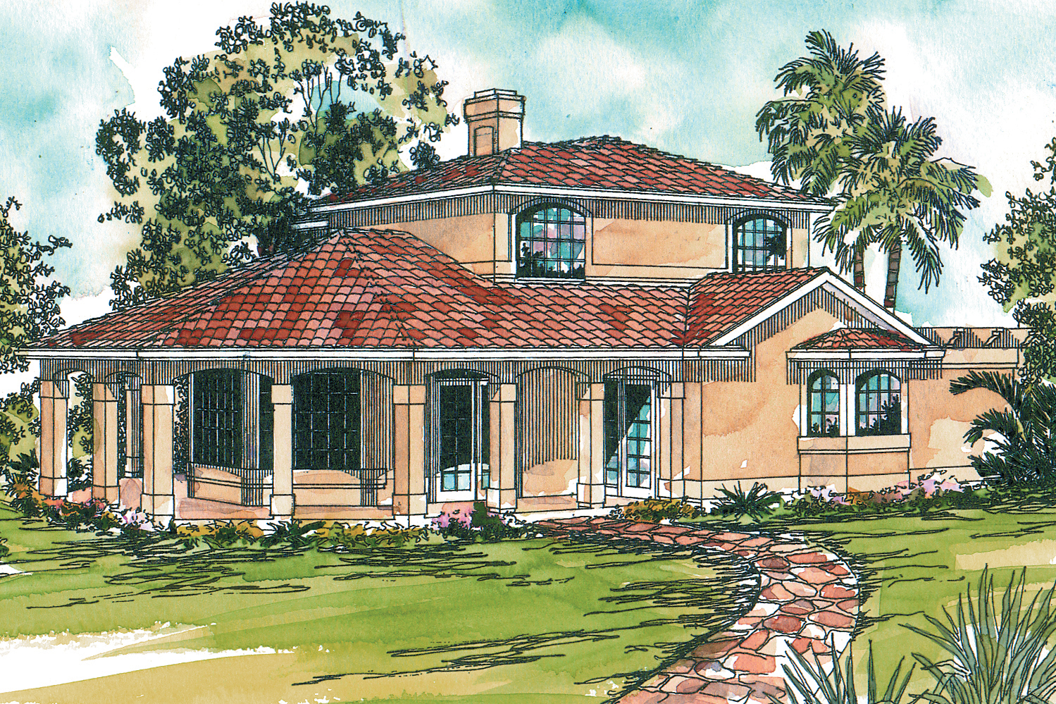 Mediterranean house plans lauderdale 11 037 associated for Mediterranean house designs and floor plans