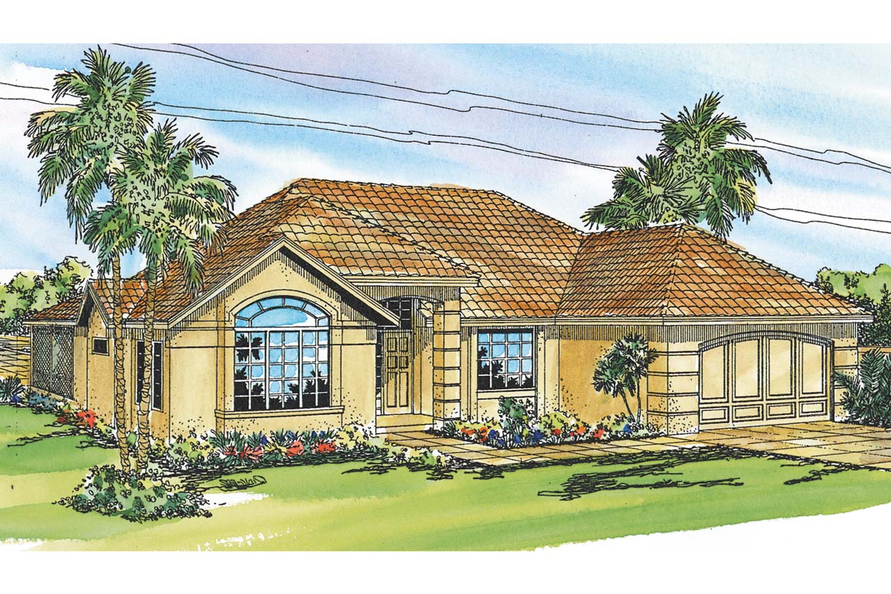 Mediterranean house plans pereza 11 075 associated designs for Mediterranean elevation