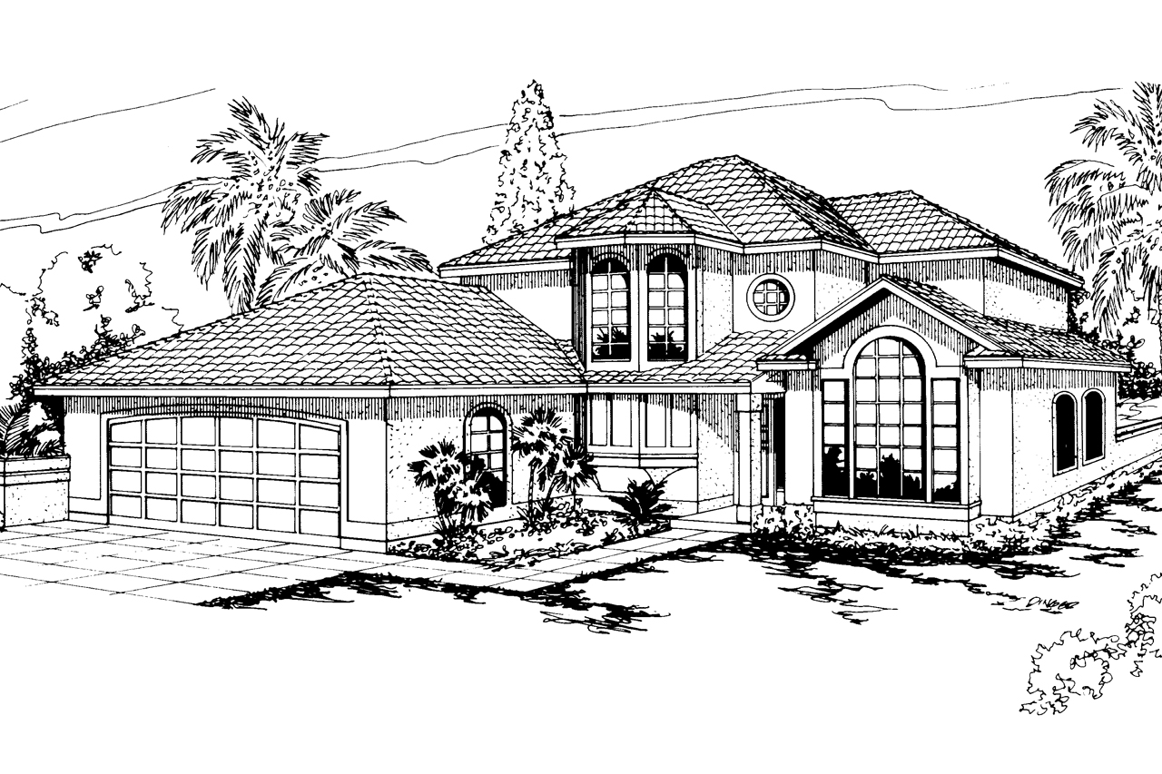 Mediterranean house plans sequoia 11 013 associated for Mediterranean elevation