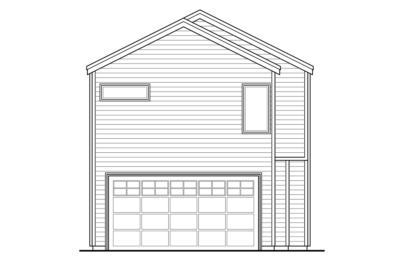 Narrow house plans with front garage for Narrow lot home plans with rear garage