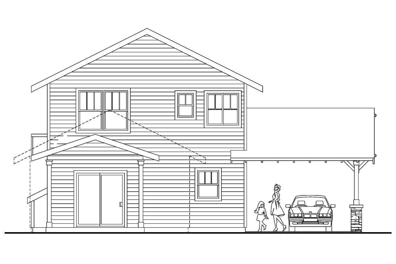 19 surprisingly narrow lot house plans with rear garage for Rear garage house plans