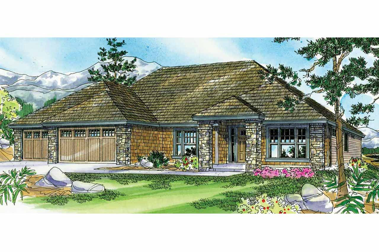 Prairie style house plans creekstone 30 708 associated for Prairie style