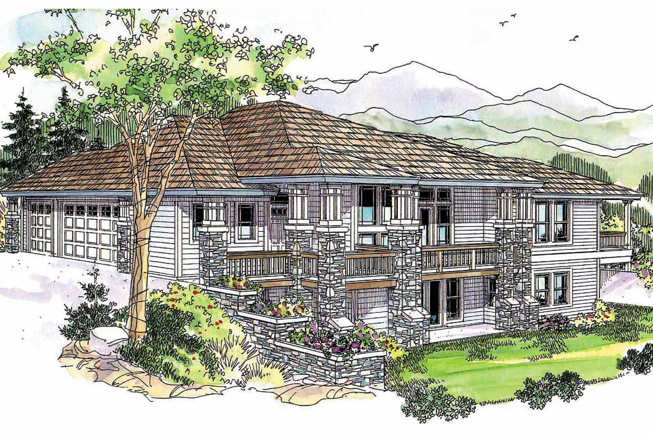 Prairie Style House Plans Edenbridge 30 626 Associated