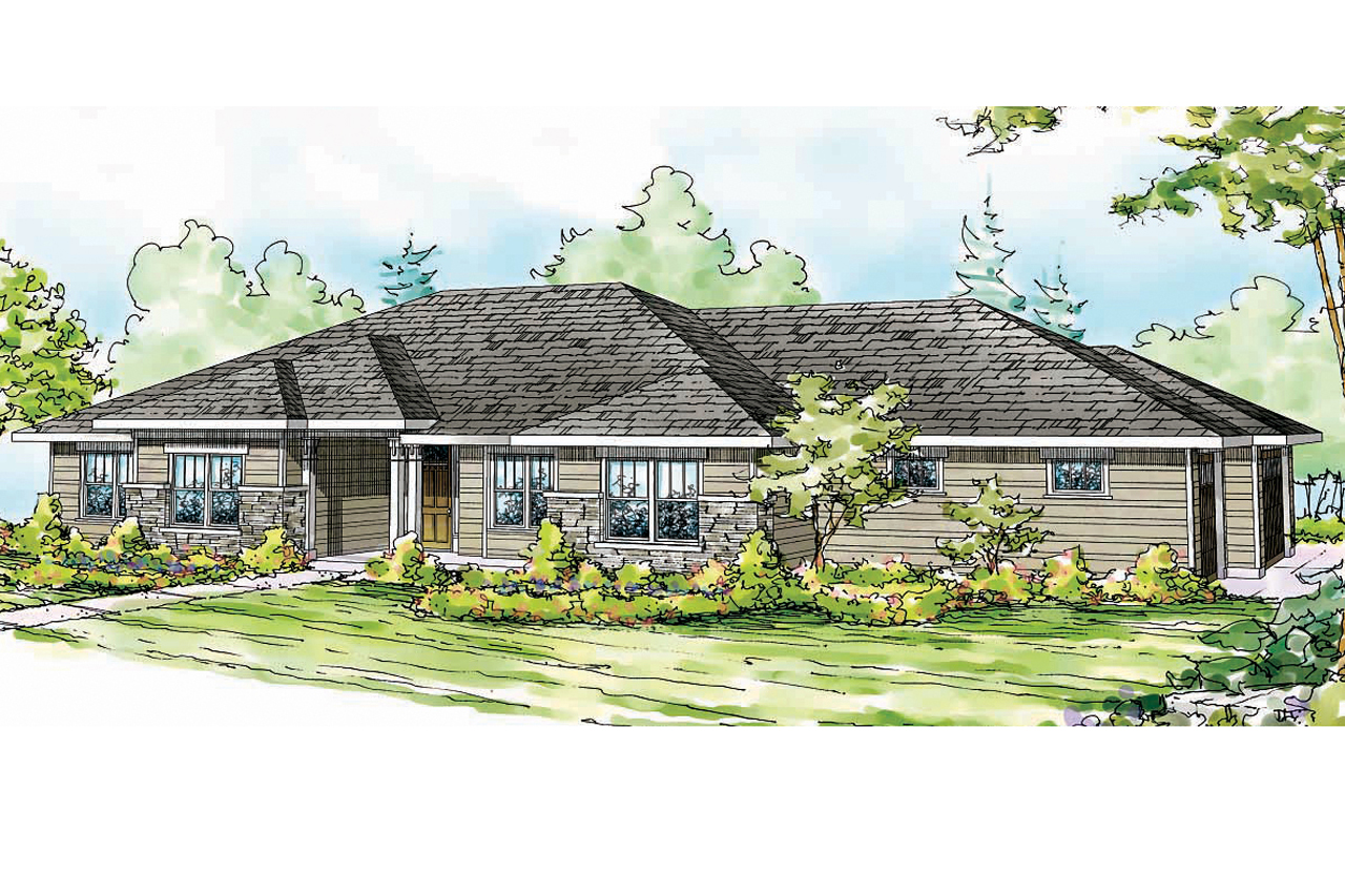 Prairie Style House Plans Fall Creek 30 755 Associated