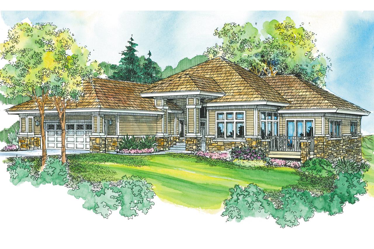 Prairie style house plans meadowbrook 30 659 for Prairie style