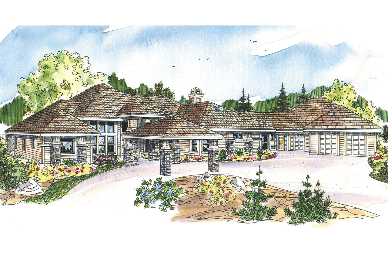 Prairie Style House Plans Westfair 30 445 Associated