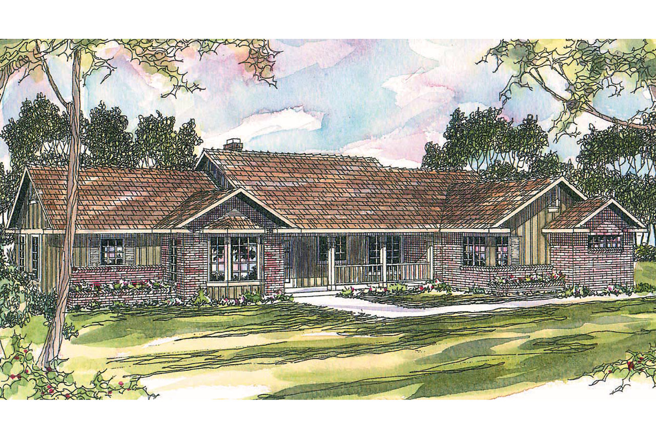 Ranch house plans burlington 10 255 associated designs for Ranch house elevations